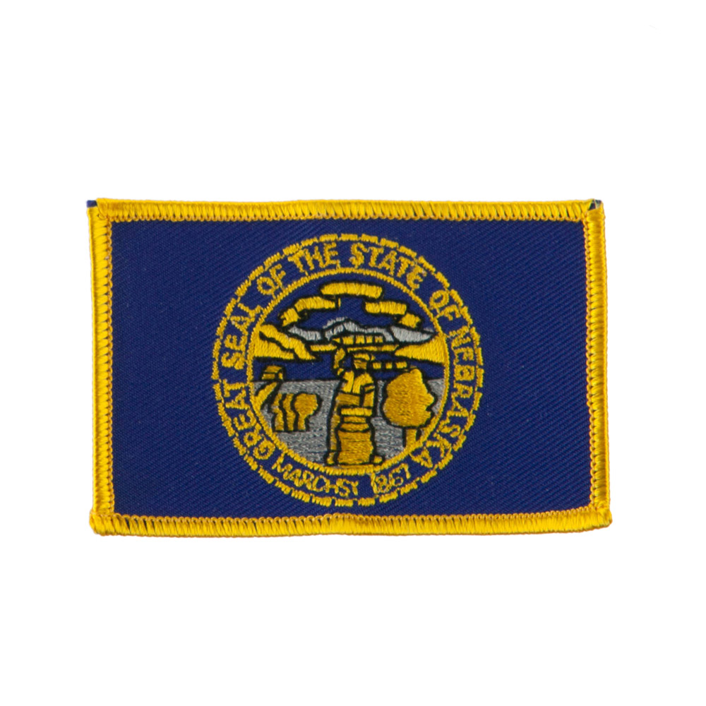 Middle State Embroidered Patches - Nebraska