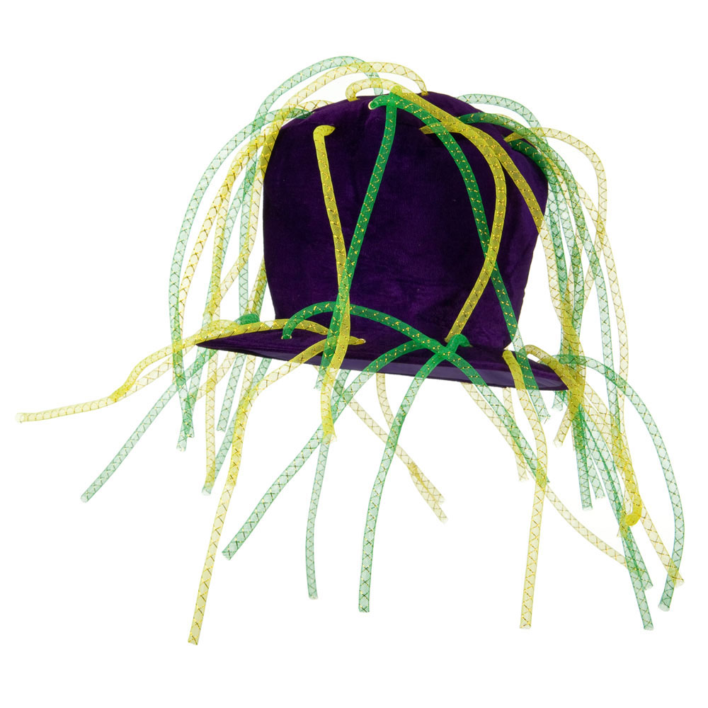 Mardi Tall Hat with Crazy Tube - Purple - Hats and Caps Online Shop - Hip Head Gear