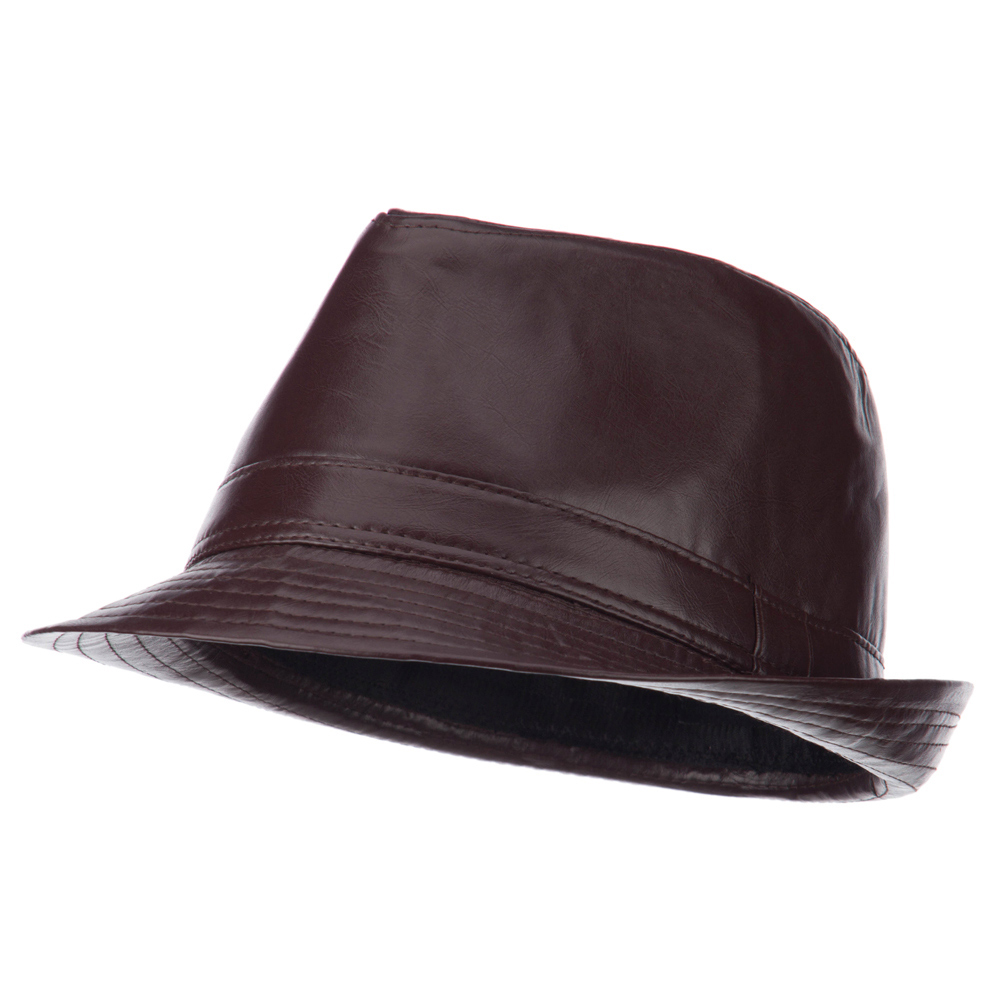 Men's PU Shining Fedora - Brown