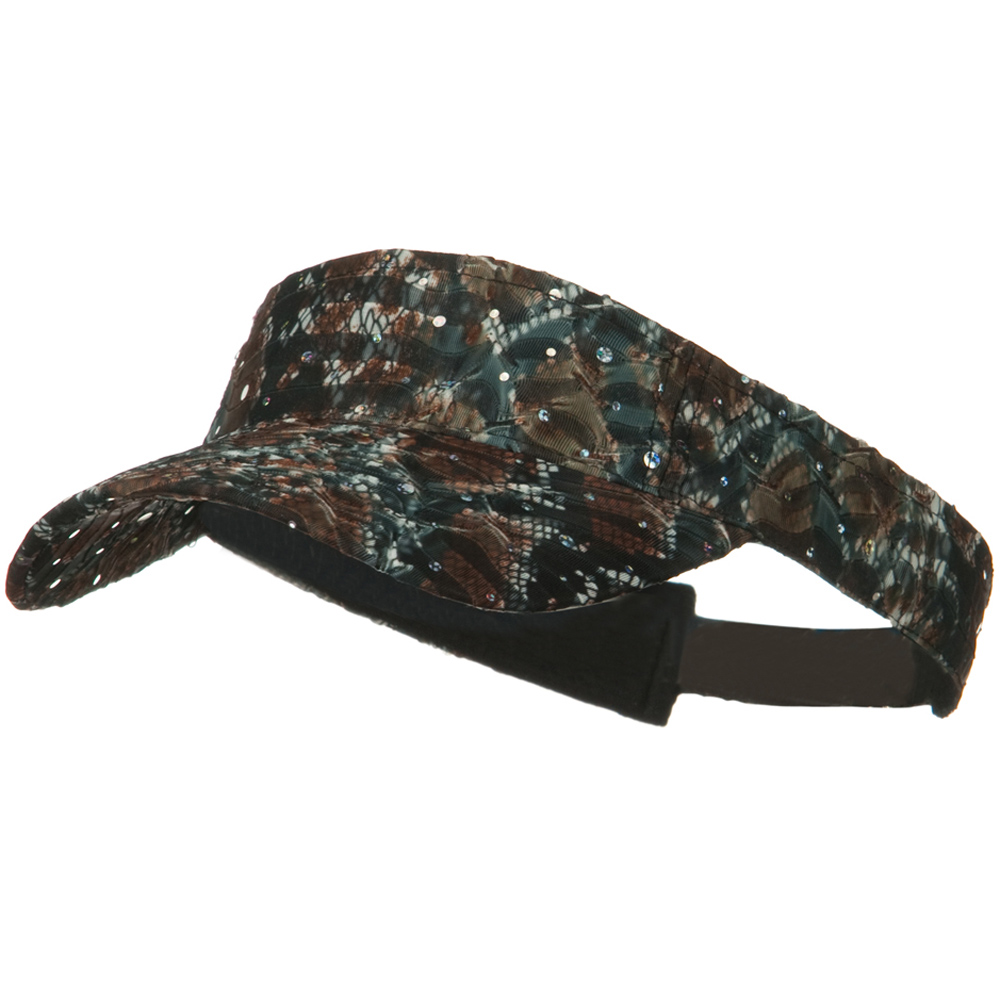Multi Color Animal Print Visor - Brown - Hats and Caps Online Shop - Hip Head Gear