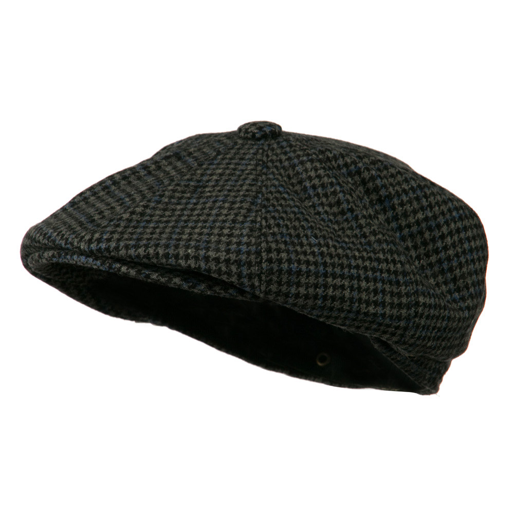 Men's Wool Snap Front Apple Newsboy Hat - Black - Hats and Caps Online Shop - Hip Head Gear