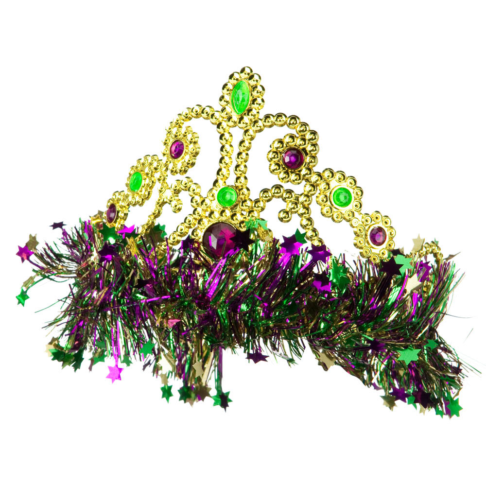 Mardi Gras Crown Headband - Green Yellow Purple - Hats and Caps Online Shop - Hip Head Gear