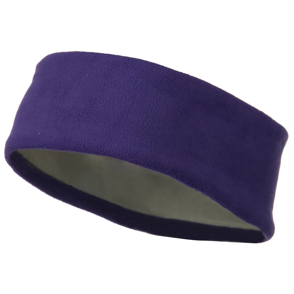 Moisture Wicking Fleece Head Band - Purple - Hats and Caps Online Shop - Hip Head Gear