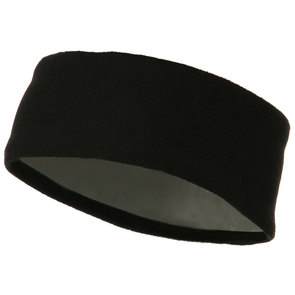 Moisture Wicking Fleece Head Band - Black - Hats and Caps Online Shop - Hip Head Gear