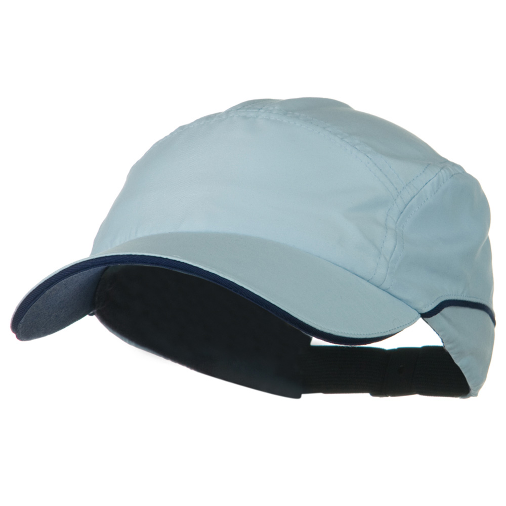 5 Panel Microfiber Water Repellent Cap - Light Blue Navy - Hats and Caps Online Shop - Hip Head Gear