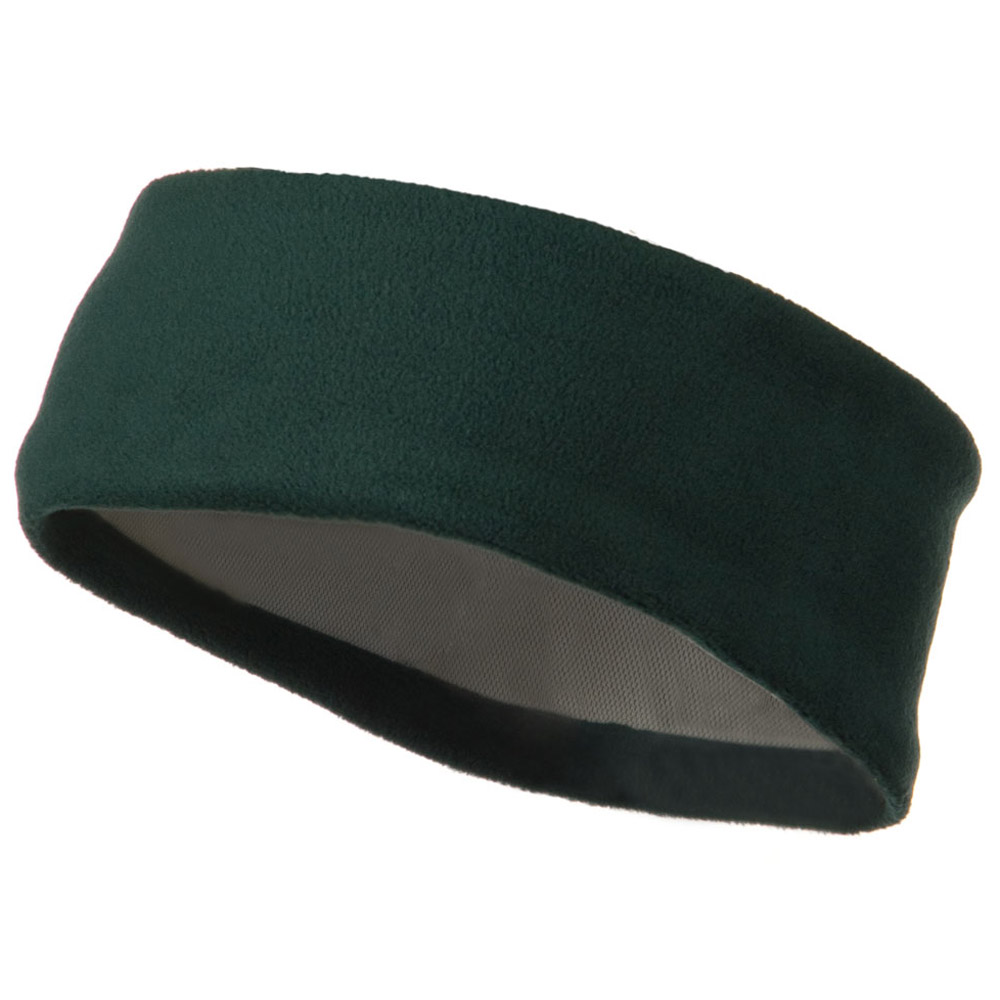 Moisture Wicking Fleece Head Band - Dark Green - Hats and Caps Online Shop - Hip Head Gear