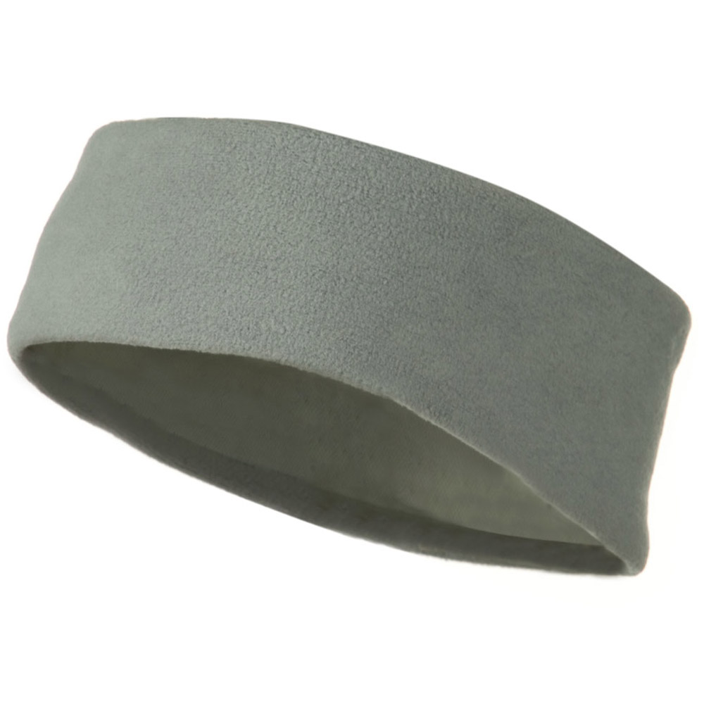 Moisture Wicking Fleece Head Band - Light Grey - Hats and Caps Online Shop - Hip Head Gear