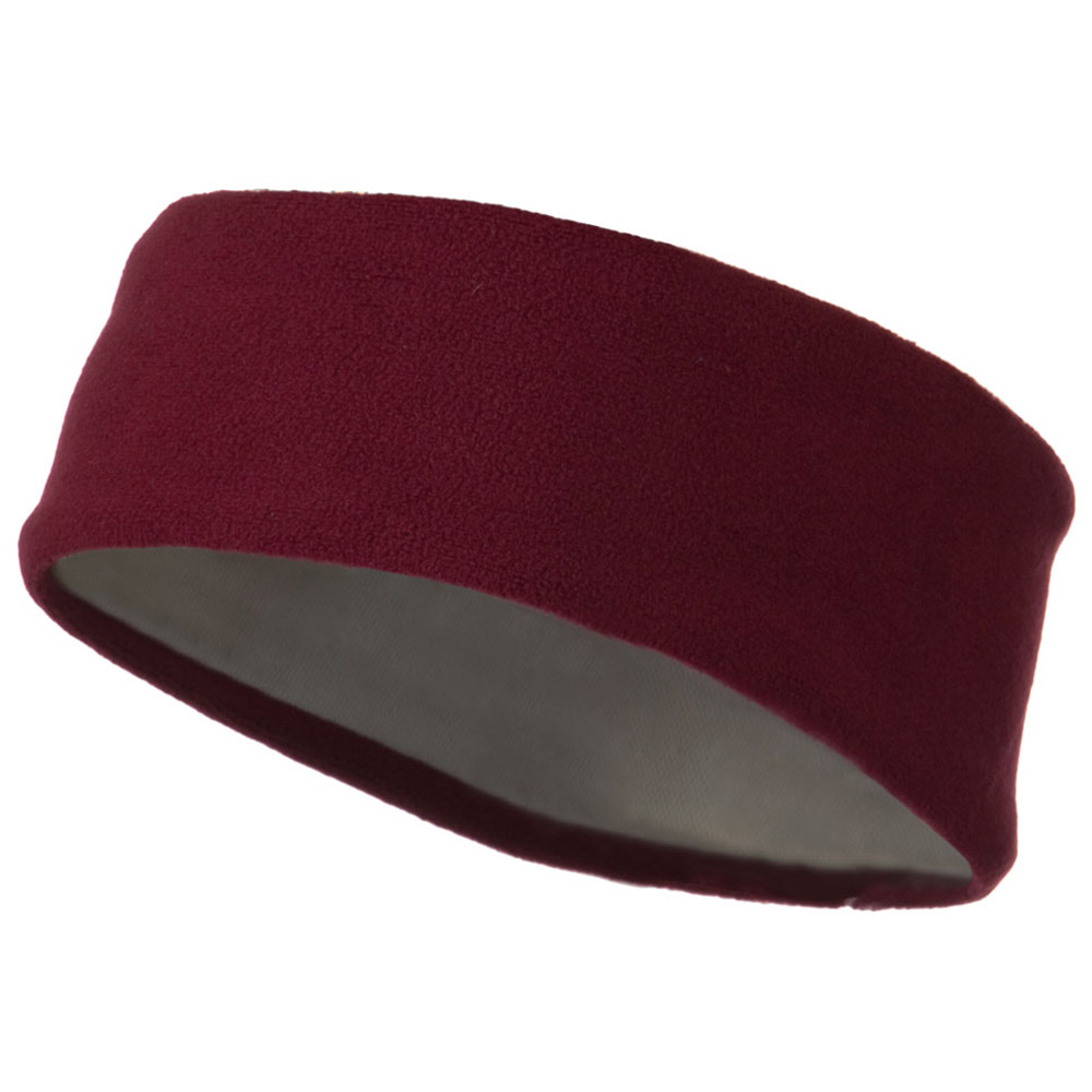 Moisture Wicking Fleece Head Band - Maroon - Hats and Caps Online Shop - Hip Head Gear