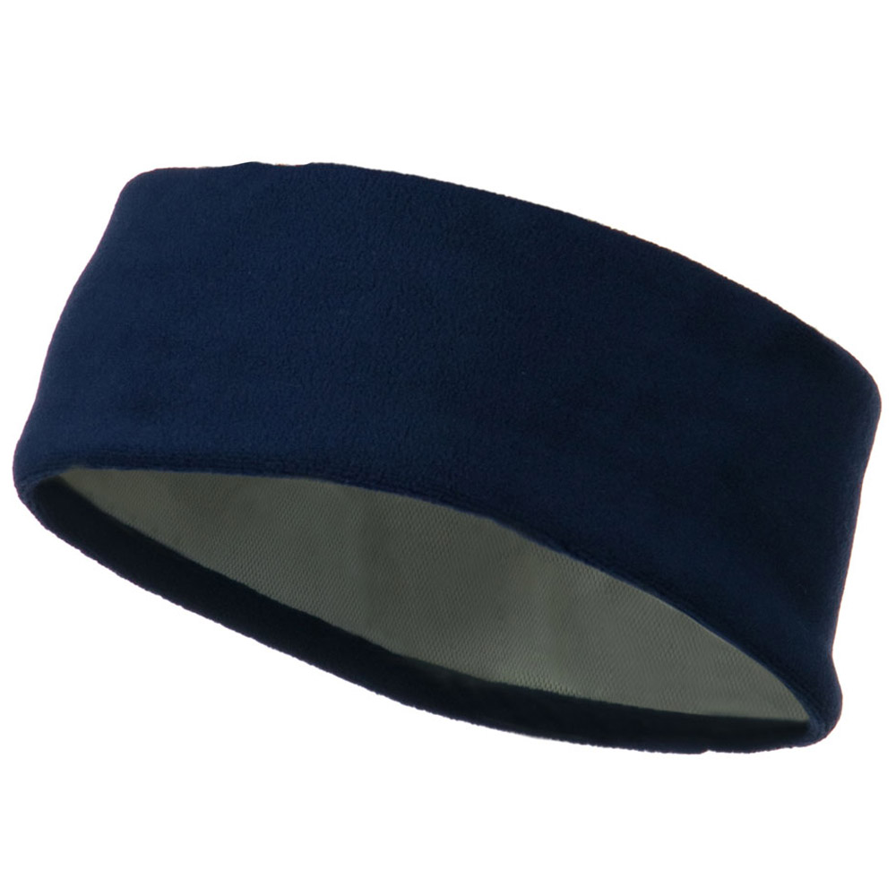 Moisture Wicking Fleece Head Band - Navy - Hats and Caps Online Shop - Hip Head Gear