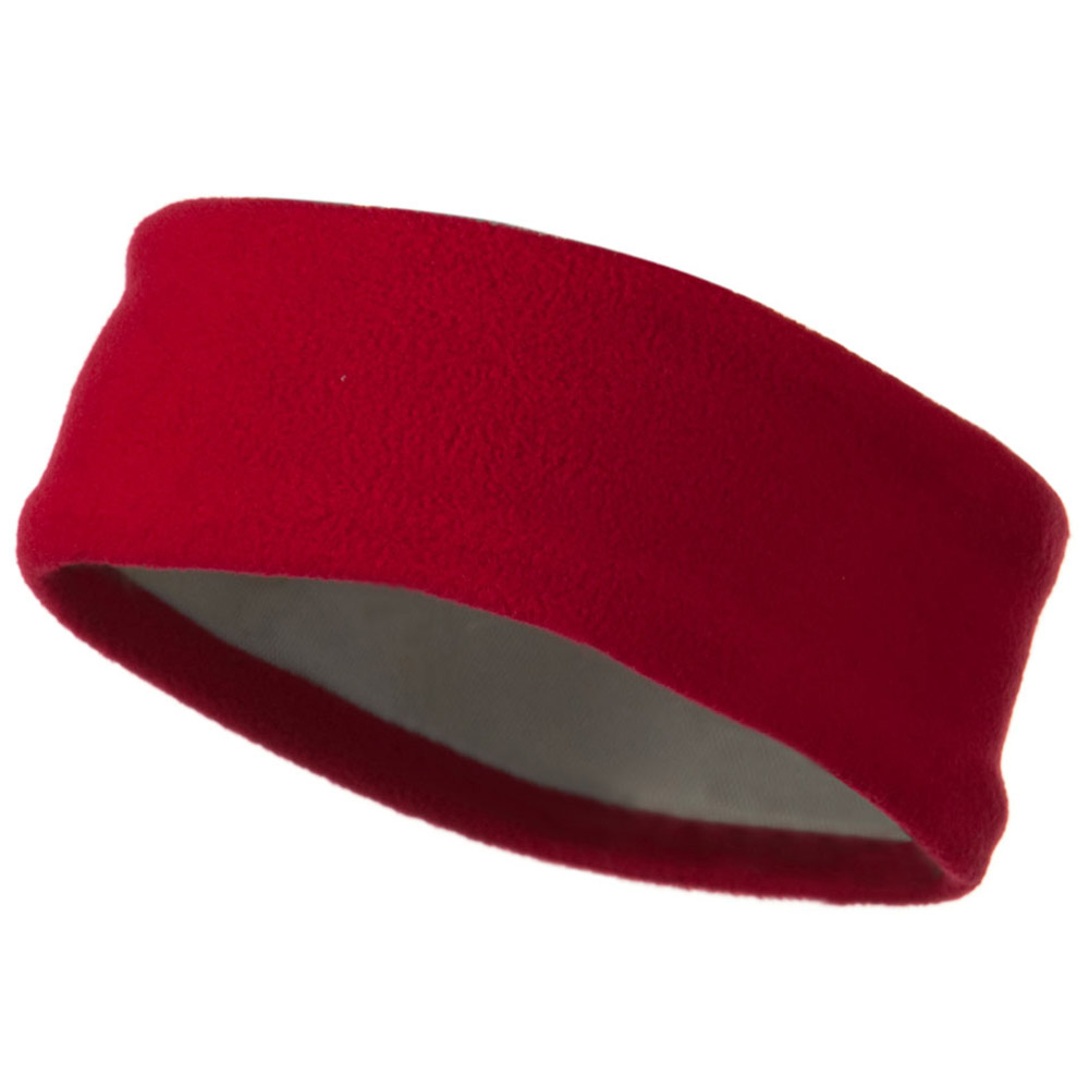 Moisture Wicking Fleece Head Band - Red - Hats and Caps Online Shop - Hip Head Gear
