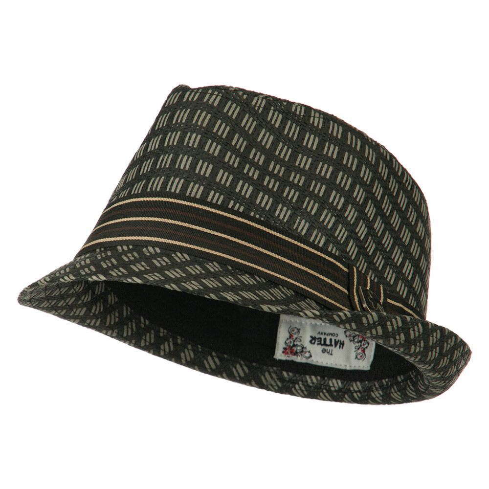Mixed Straw Fedora - Black - Hats and Caps Online Shop - Hip Head Gear
