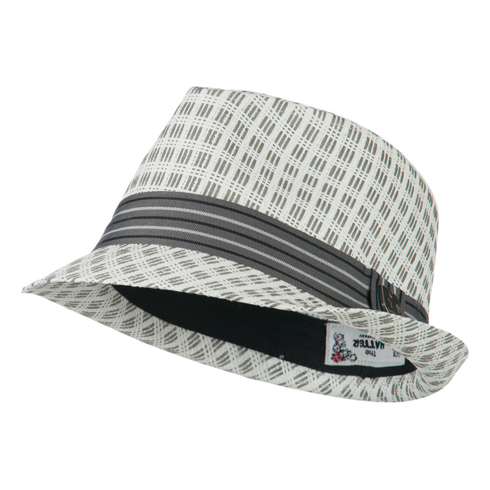 Mixed Straw Fedora - White - Hats and Caps Online Shop - Hip Head Gear