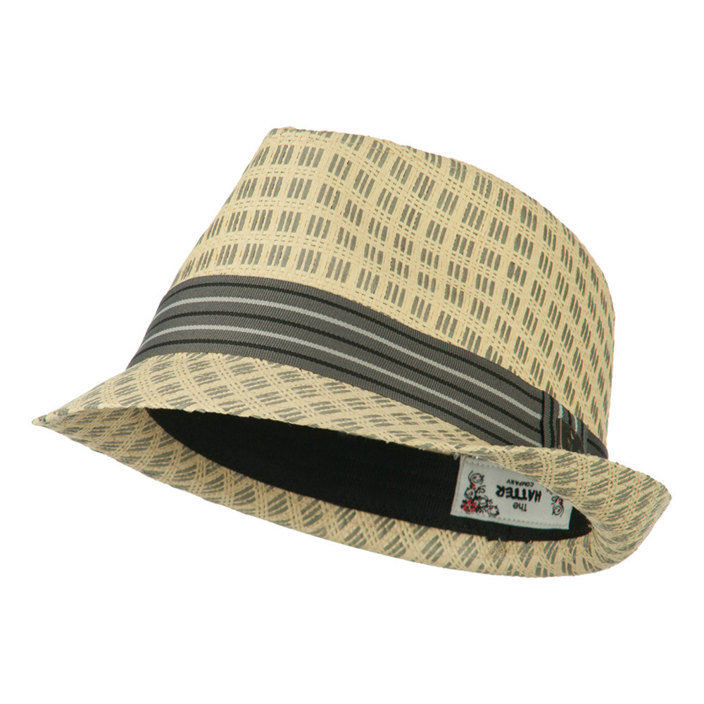 Mixed Straw Fedora - Natural - Hats and Caps Online Shop - Hip Head Gear