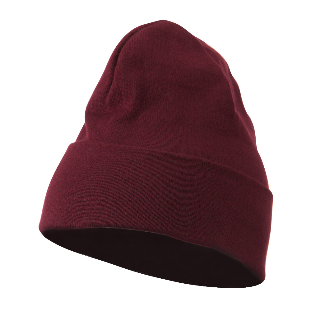 Cool Max Knitted Cuff Beanie - Burgundy - Hats and Caps Online Shop - Hip Head Gear