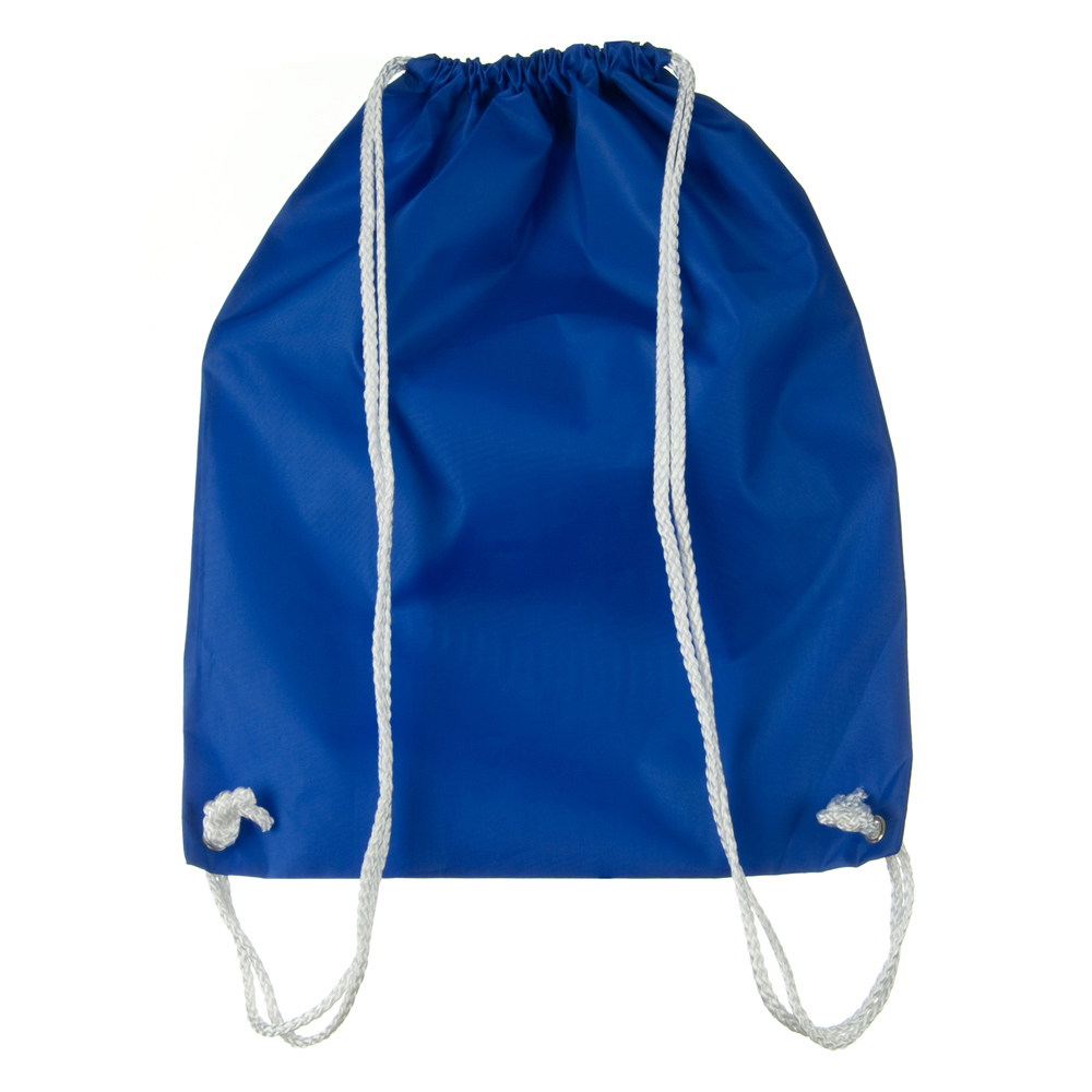 Nylon Drawstring Solid Color Backpack - Royal