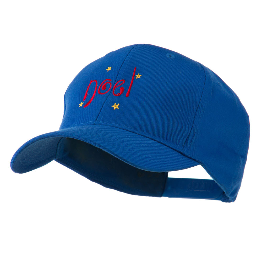 Christmas Noel with Stars Embroidered Cap - Royal - Hats and Caps Online Shop - Hip Head Gear