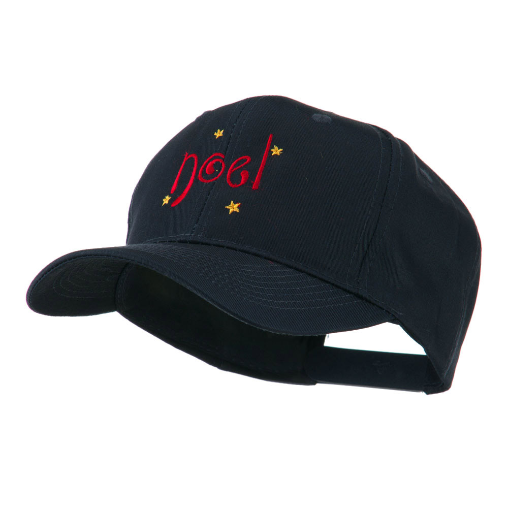 Christmas Noel with Stars Embroidered Cap - Navy - Hats and Caps Online Shop - Hip Head Gear