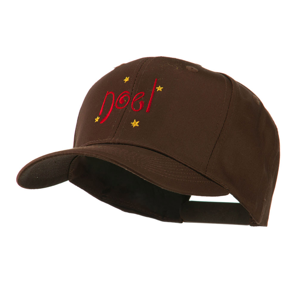 Christmas Noel with Stars Embroidered Cap - Brown - Hats and Caps Online Shop - Hip Head Gear