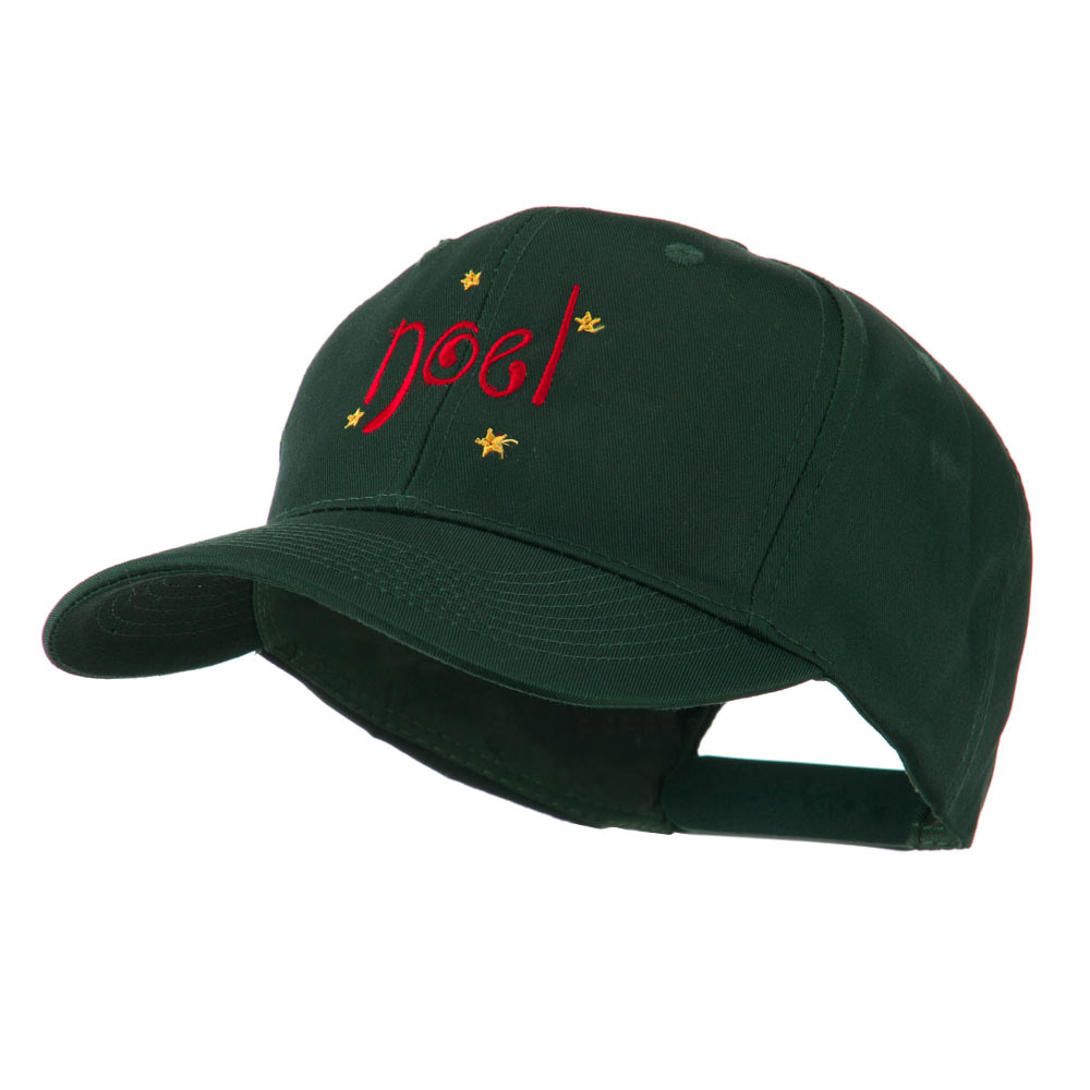 Christmas Noel with Stars Embroidered Cap - Green - Hats and Caps Online Shop - Hip Head Gear