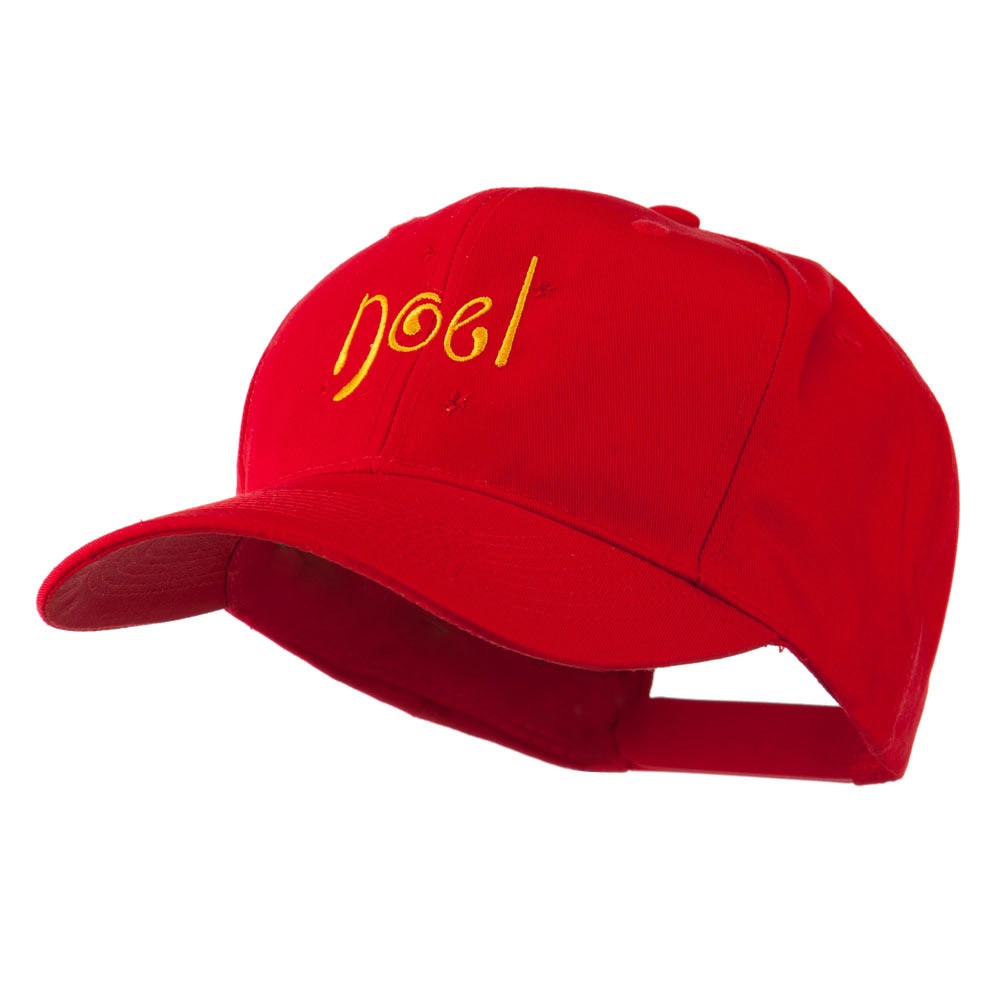 Christmas Noel with Stars Embroidered Cap - Red - Hats and Caps Online Shop - Hip Head Gear