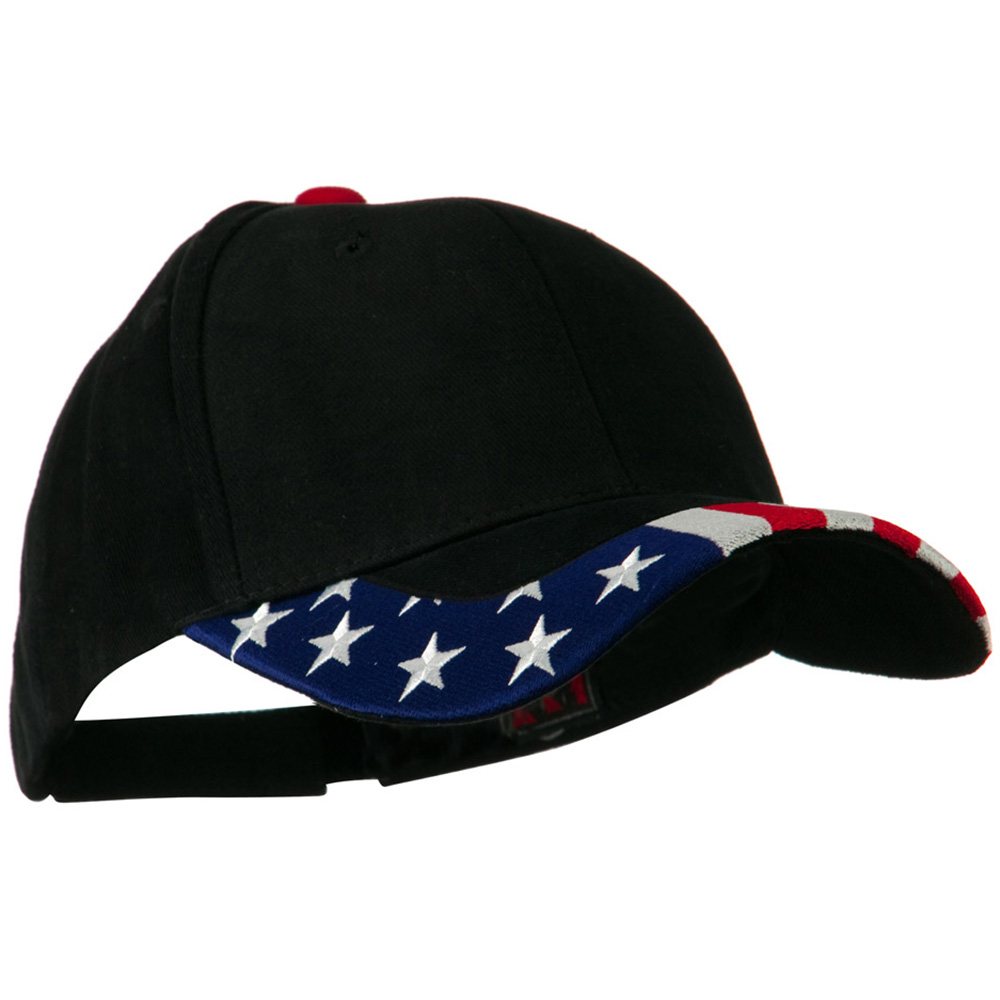 National Flag Pattern Trim Cap - USA Black - Hats and Caps Online Shop - Hip Head Gear