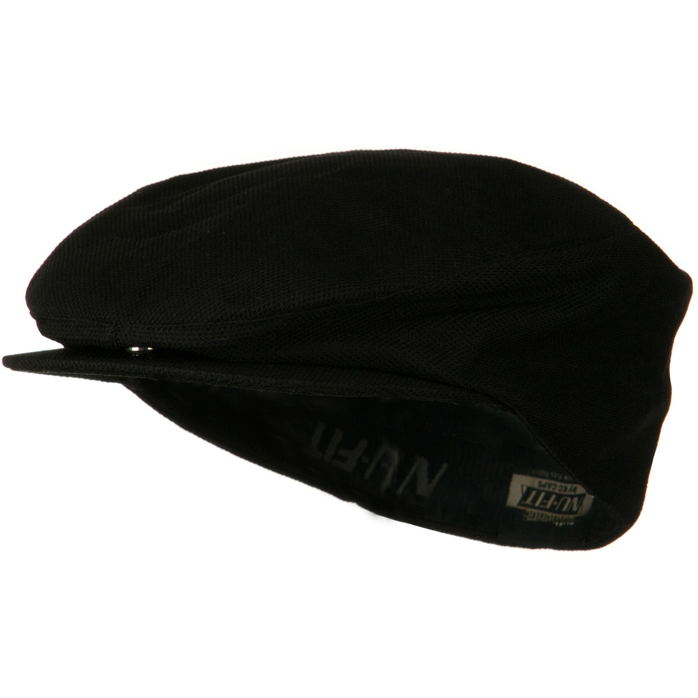 Nu Fit Deluxe Pique Mesh Spandex Gatsby - Black - Hats and Caps Online Shop - Hip Head Gear