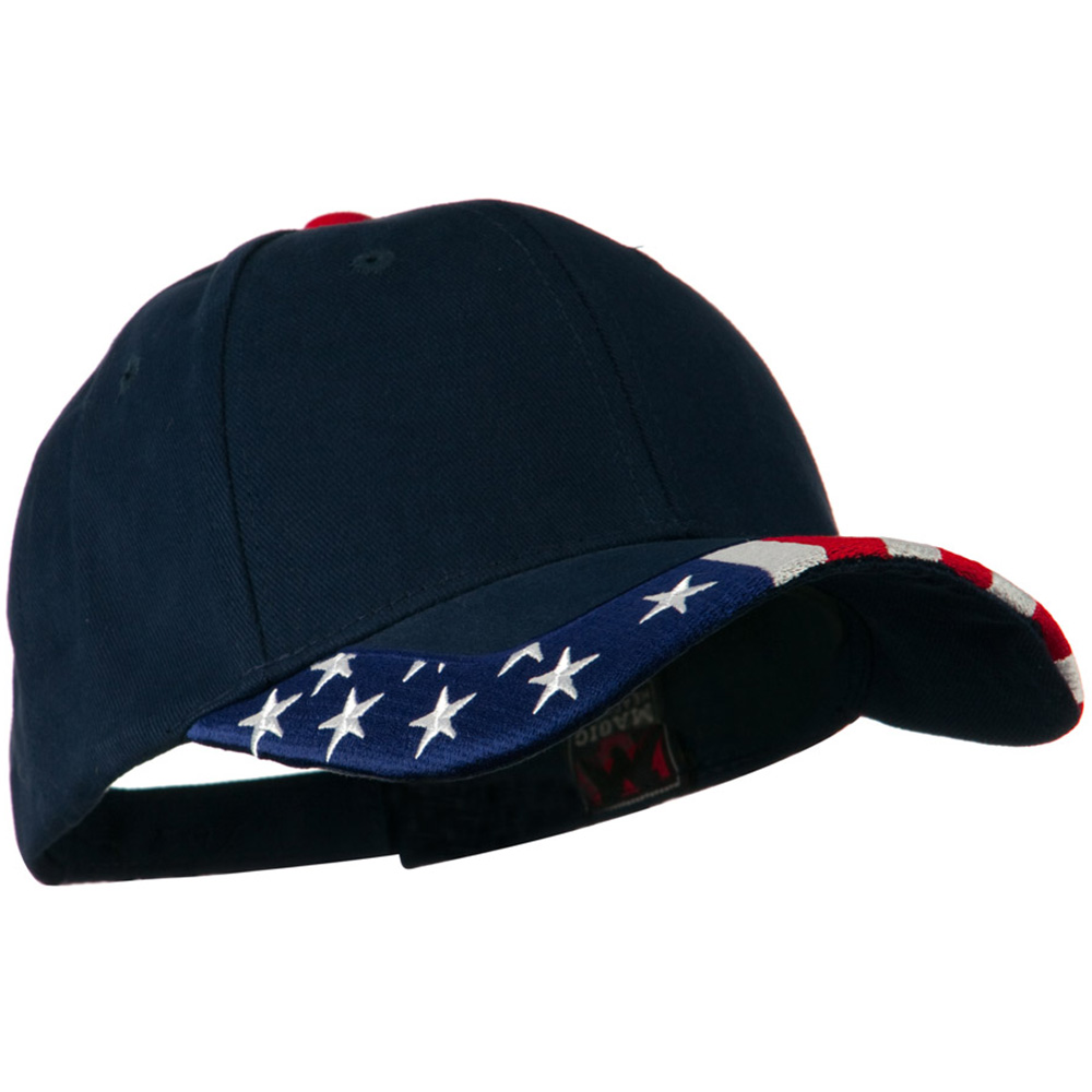 National Flag Pattern Trim Cap - USA Navy - Hats and Caps Online Shop - Hip Head Gear
