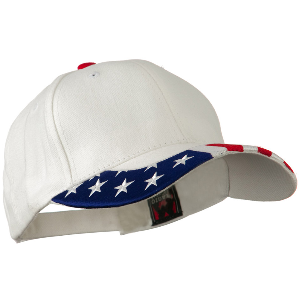 National Flag Pattern Trim Cap - USA White - Hats and Caps Online Shop - Hip Head Gear