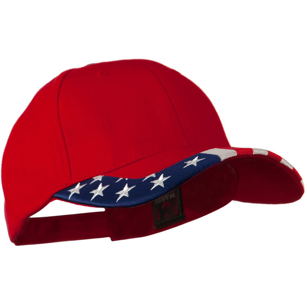National Flag Pattern Trim Cap - USA Red - Hats and Caps Online Shop - Hip Head Gear