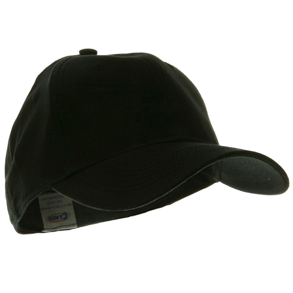 Youth Size 6 Panel Naturalfit Cap - Black - Hats and Caps Online Shop - Hip Head Gear