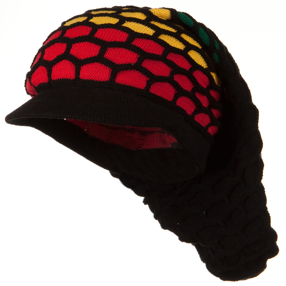 New Rasta Honey Long Hat-Black RGY - Hats and Caps Online Shop - Hip Head Gear