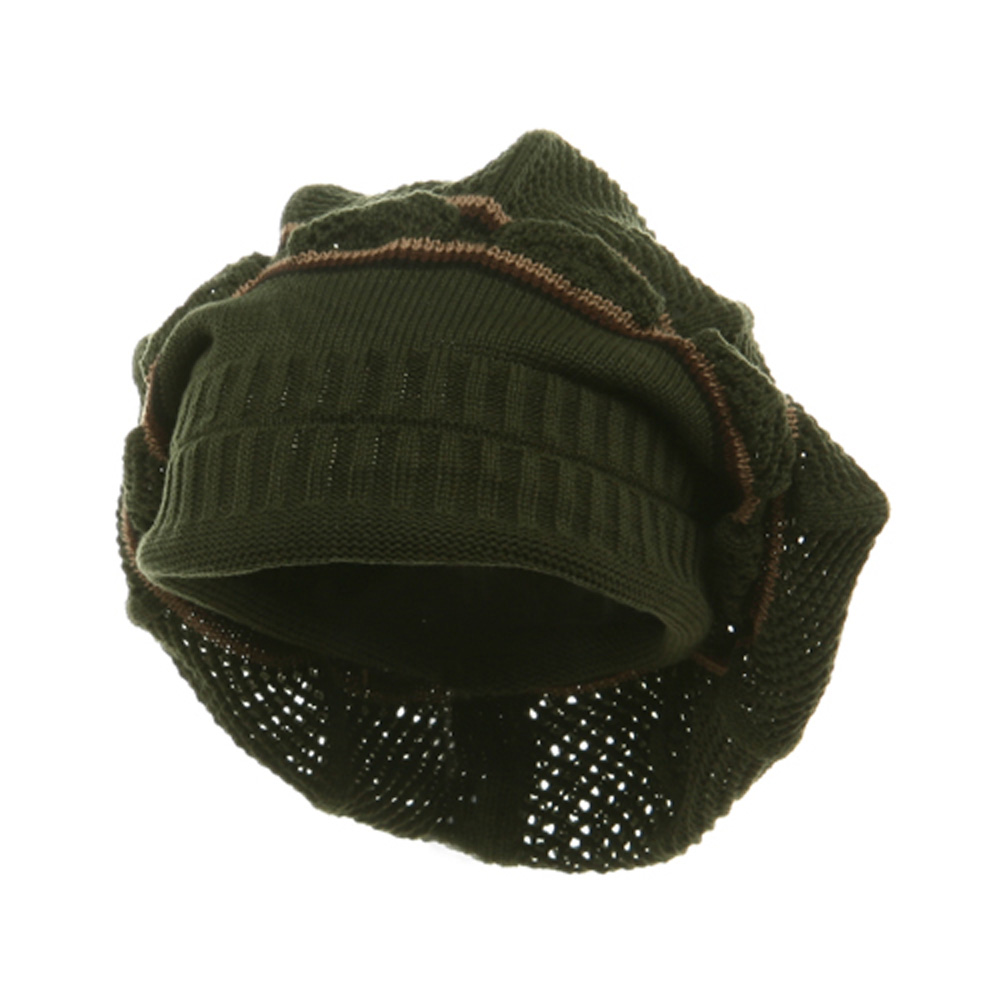 New Rasta Knitted without Brim Hat - Olive Khaki - Hats and Caps Online Shop - Hip Head Gear