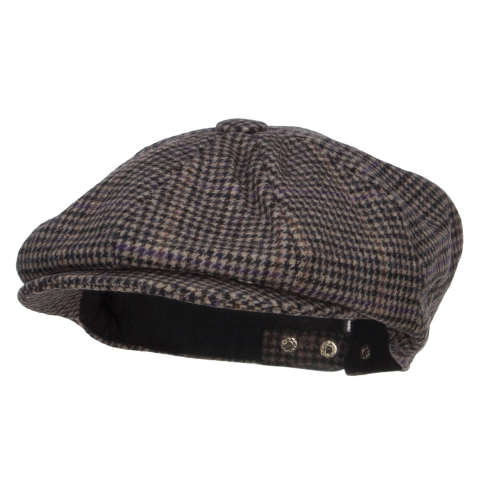 Men's Wool Blend 8 Panel Newsboy Hat - Grey