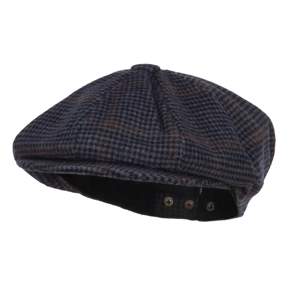 Men's Wool Blend 8 Panel Newsboy Hat - Navy