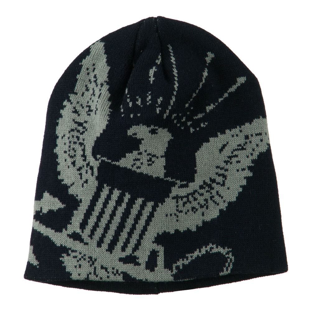Navy Military Woven Knit Beanie - Navy - Hats and Caps Online Shop - Hip Head Gear