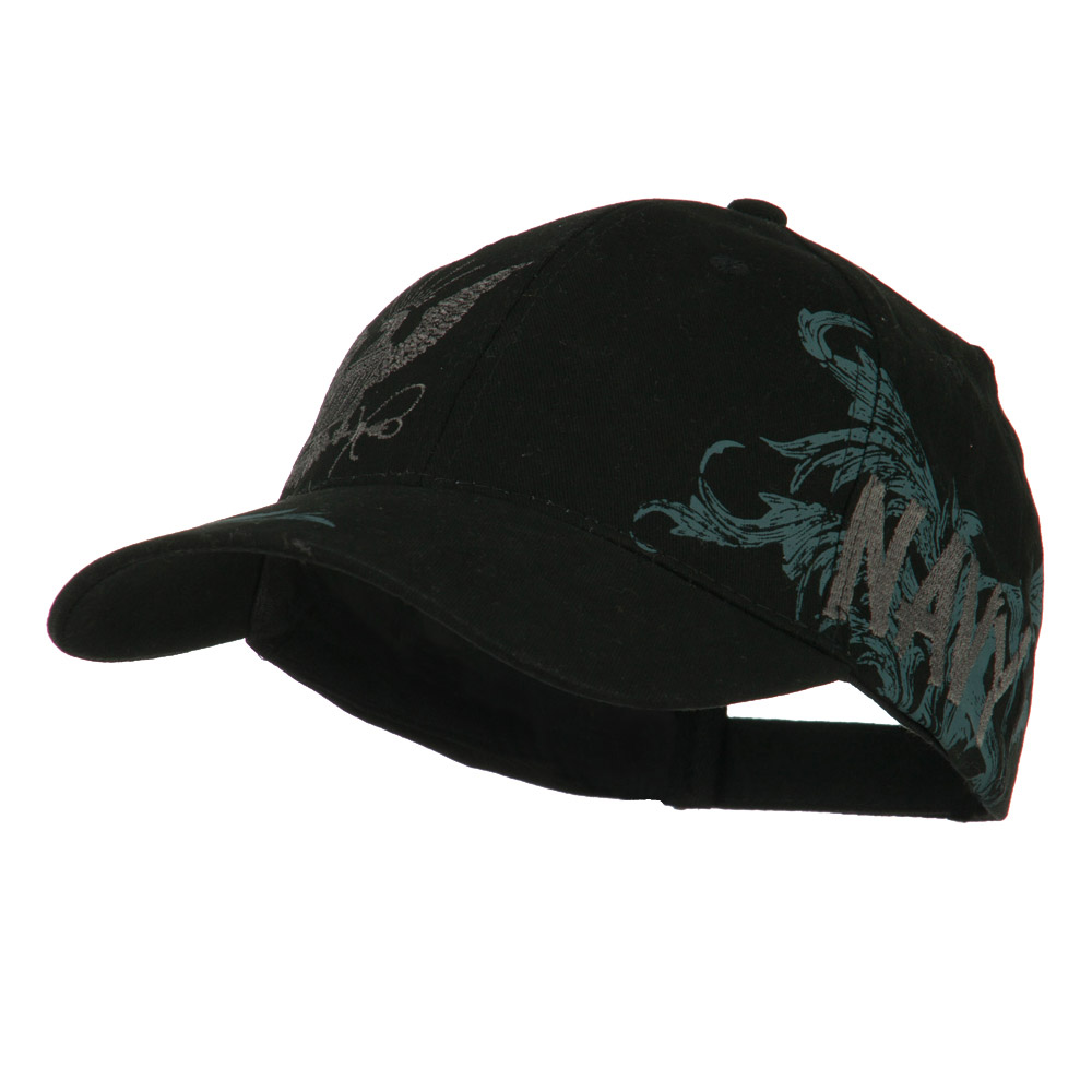 Women's Constructed US Navy Military Cap - Black - Hats and Caps Online Shop - Hip Head Gear