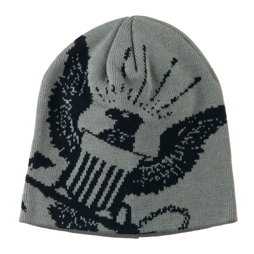 Navy Military Woven Knit Beanie - Grey - Hats and Caps Online Shop - Hip Head Gear