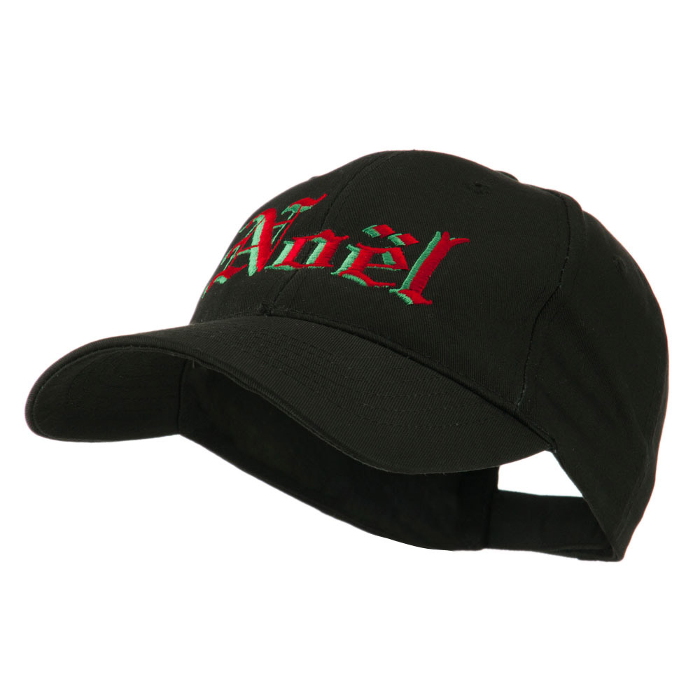 Christmas Noel Shadow Embroidered Cap - Black - Hats and Caps Online Shop - Hip Head Gear