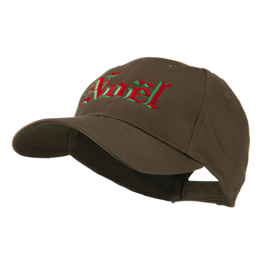 Christmas Noel Shadow Embroidered Cap - Brown - Hats and Caps Online Shop - Hip Head Gear