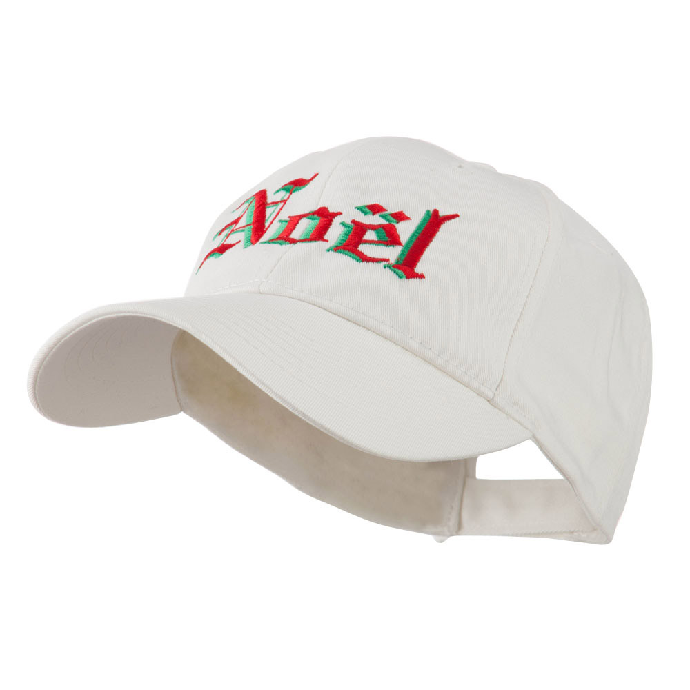 Christmas Noel Shadow Embroidered Cap - White - Hats and Caps Online Shop - Hip Head Gear