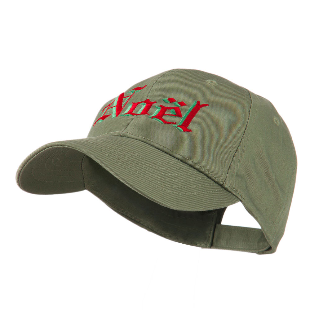 Christmas Noel Shadow Embroidered Cap - Olive - Hats and Caps Online Shop - Hip Head Gear