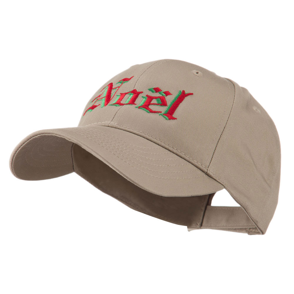 Christmas Noel Shadow Embroidered Cap - Khaki - Hats and Caps Online Shop - Hip Head Gear