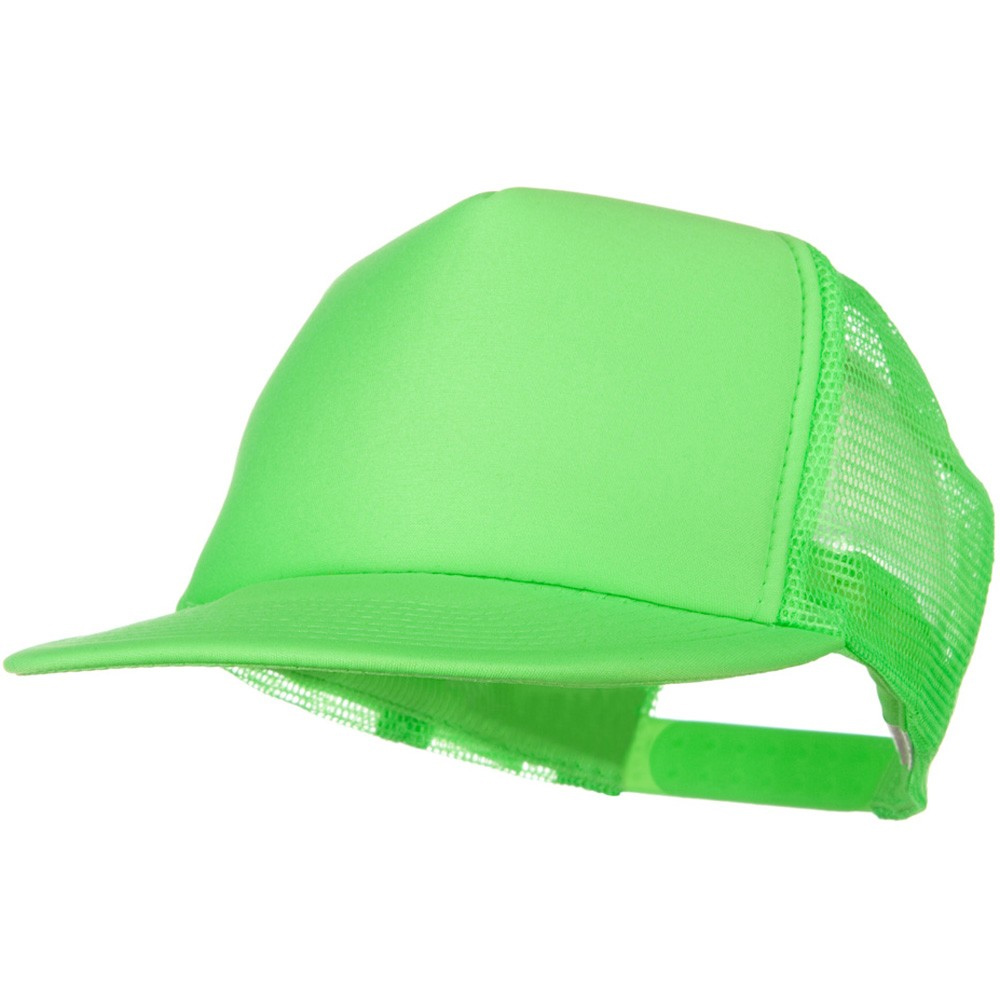 5 Panel Neon Color Poly Mesh Cap - Neon Green - Hats and Caps Online Shop - Hip Head Gear