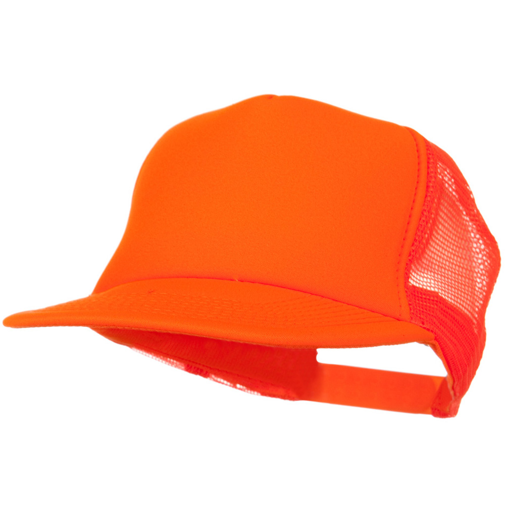 5 Panel Neon Color Poly Mesh Cap - Neon Orange - Hats and Caps Online Shop - Hip Head Gear