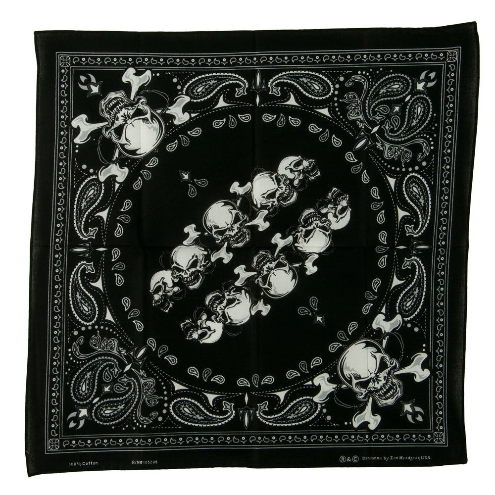 Novelty Series Bandana - Skull Spiral - Hats and Caps Online Shop - Hip Head Gear
