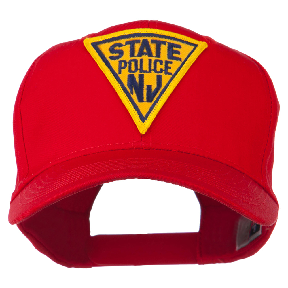 New Jersey State Police Patched High Profile Cap - Red