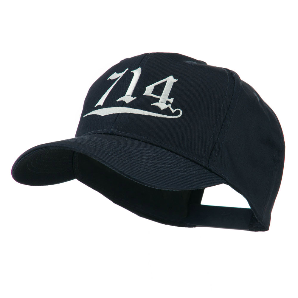 714 Orange County Area Code Embroidered Cap - Navy - Hats and Caps Online Shop - Hip Head Gear