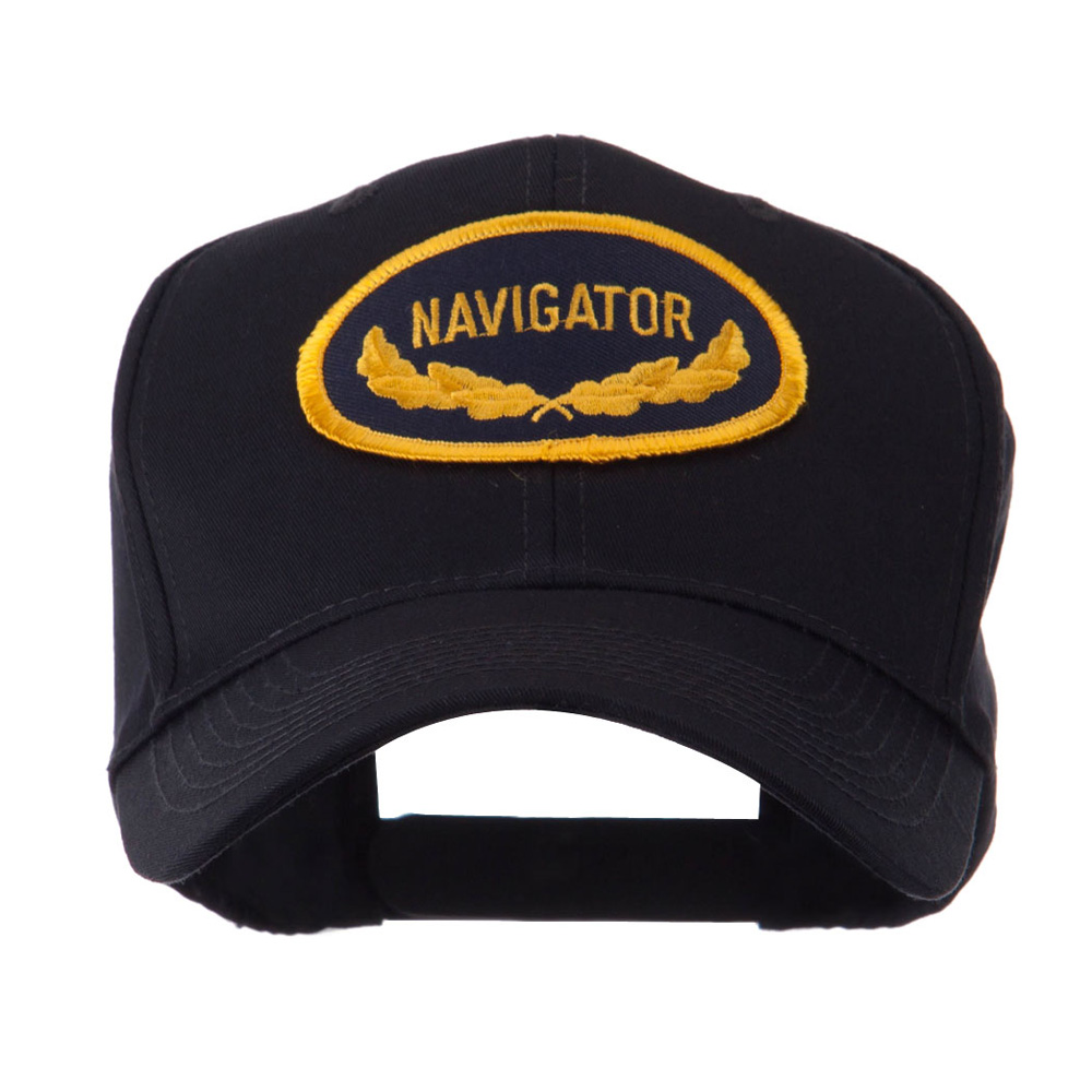 Oak Leaf Oval Shape Military Patch Cap - Navigator