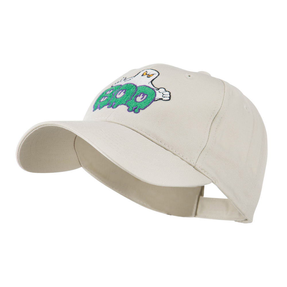 Halloween Ghost Boo Embroidered Cap - Stone - Hats and Caps Online Shop - Hip Head Gear