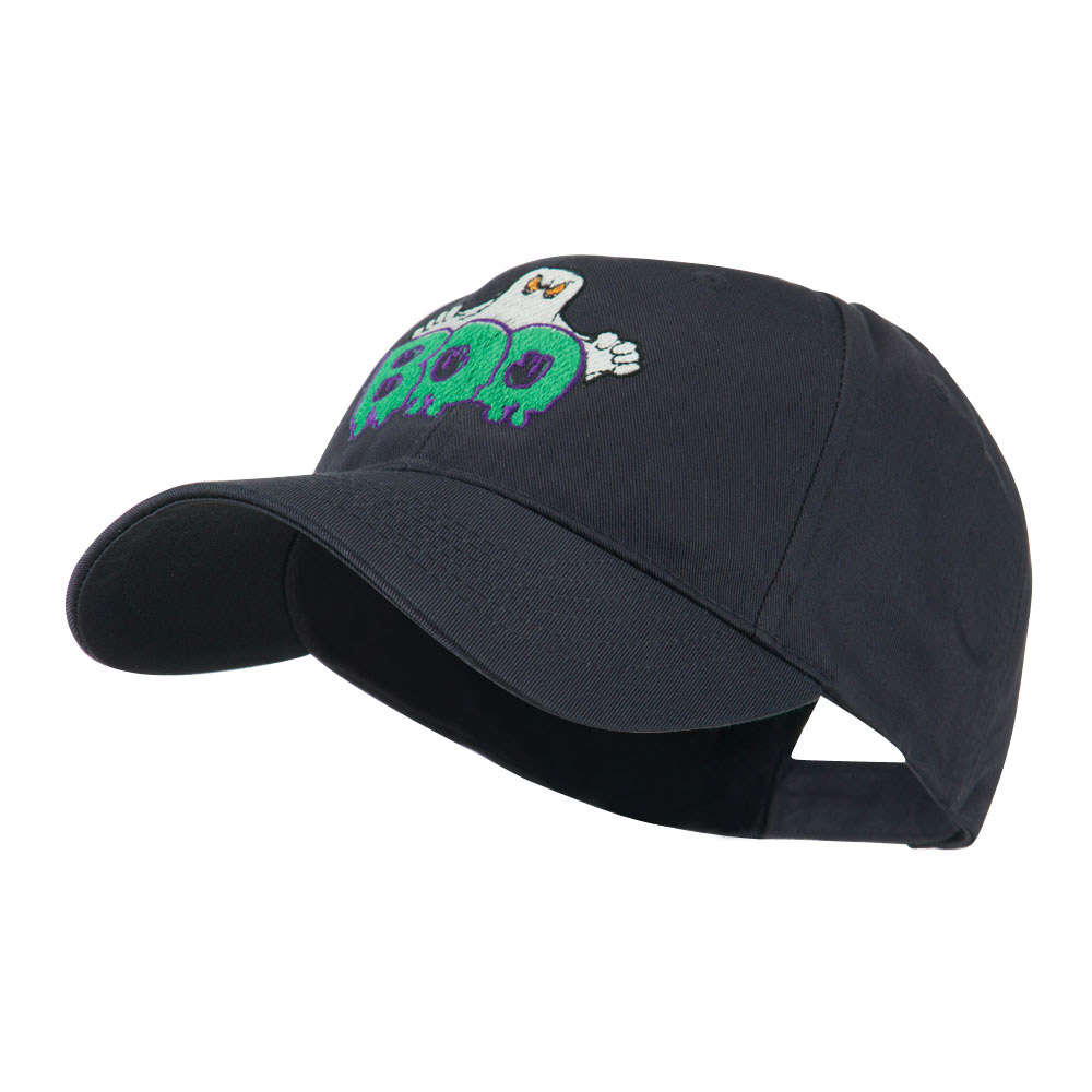 Halloween Ghost Boo Embroidered Cap - Navy - Hats and Caps Online Shop - Hip Head Gear